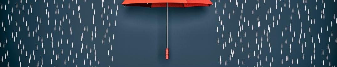Sicherheit unterm Regenschirm
