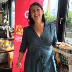Bundessprecherin Sabine Jungwirth bei der Grünen Wirtschaft in Vorarlberg