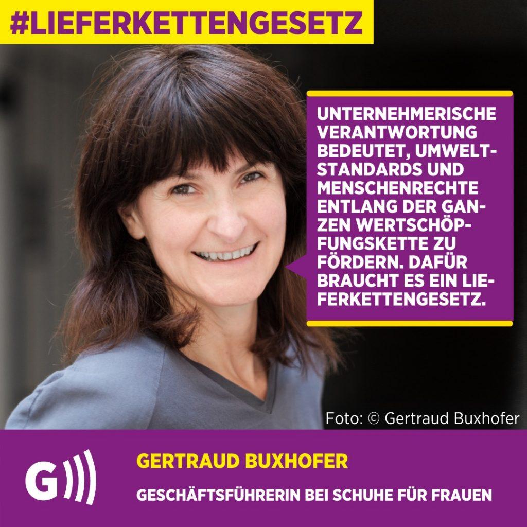 Lieferkettengesetz Gertraud Buxhofer