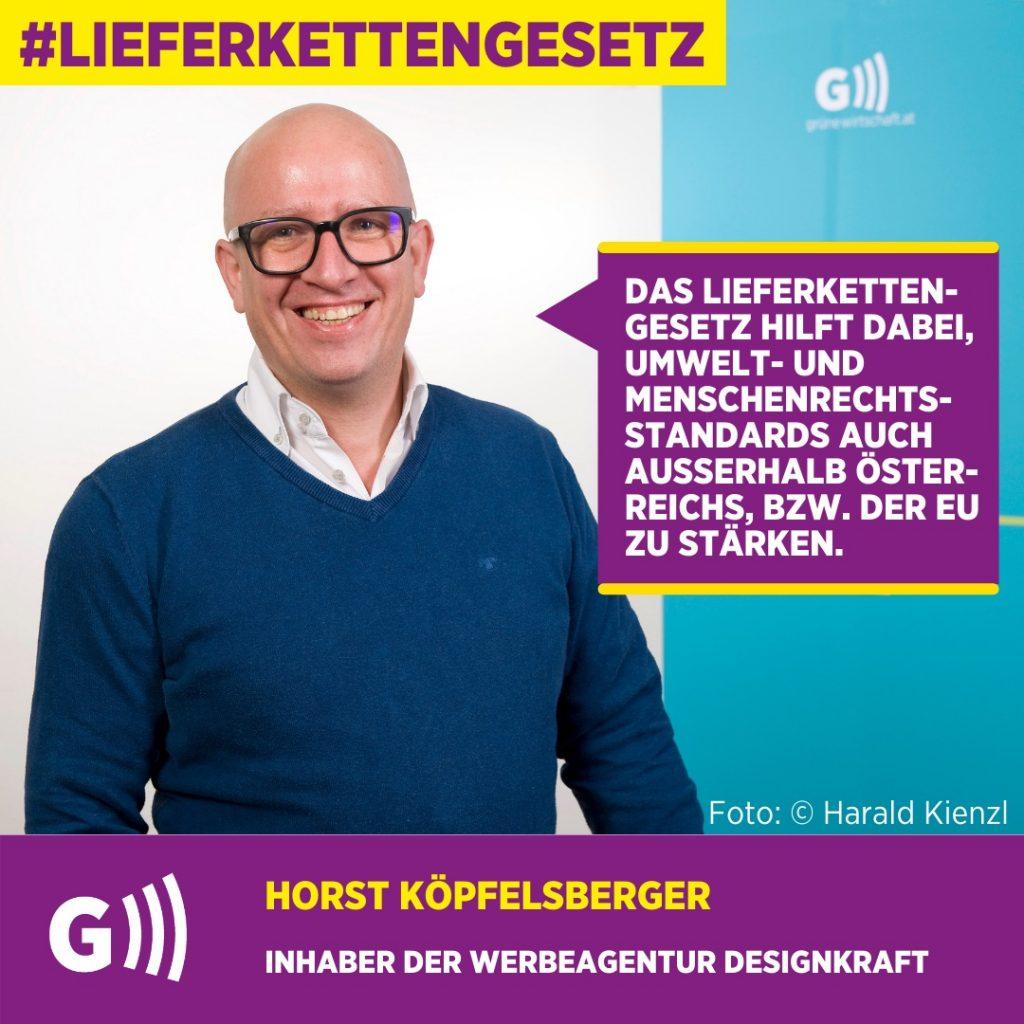 Lieferkettengesetz Horst Köpfelsberger