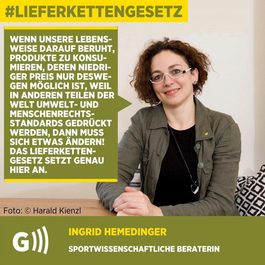 Lieferkettengesetz Ingrid Hemedinger