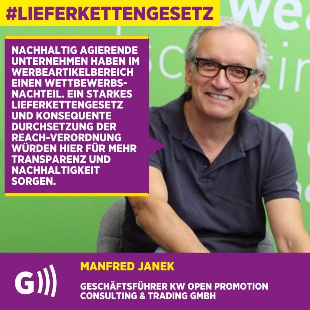 Lieferkettengesetz Manfred Janek