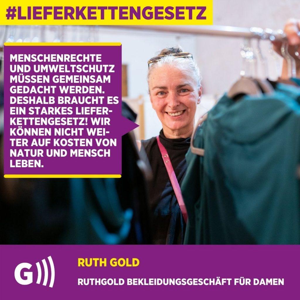 Lieferkettengesetz Ruth Gold