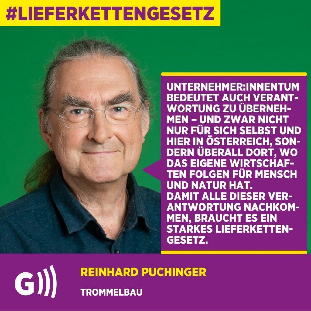 Lieferkettengesetz Reinhard Puchinger